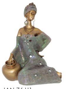 African lady kneeling