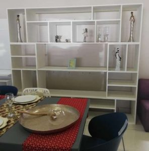 Acacia White Washed Wall Unit