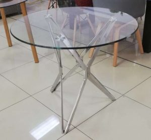 Jagged Glass Round Dining Table